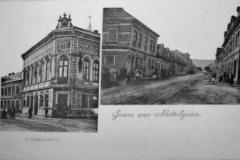 Chudeřín.Vlevo restaurant Rudý dům a vpravo chudeřínská ulice.