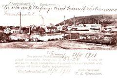 Průmyslová zóna okolo roku 1911